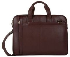 ASPENLEATHER Brown Genuine Leather Laptop Bag For Women