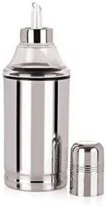 Neelam Cooking Oil Stainless Steel Dispenser - Silver (Pack of 1) - 350 ml