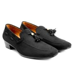 Bxxy's Mens Suede Height Increasing Casual Moccasins Shoes All Occasions (Pack of 1)