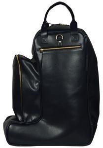 Women's Black Bucket Leather Bag