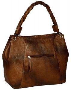 Women's Brown Baguette Bag