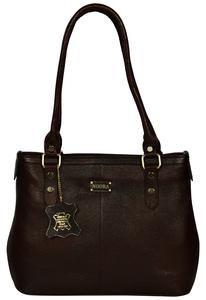 Women's Dark Brown Satchel Leather Bag