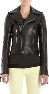 Women's Black Cropped Fitted  Leather Jacket