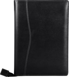 Toss Faux Leather Document & Files Folder With Zipper Mechanism (Black) (Pack Of 1)