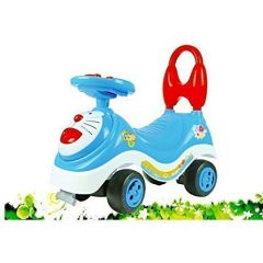 Doraemon Toy Car with Latest Music Handle & Non-Pedal Type for Children Ride in Home & Outdoor (Pack of 1)