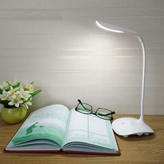 LED Study Table Lamps with Stand and On/Off Switch for Student Children (White) (Pack of 1)