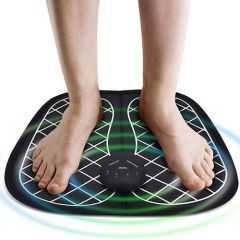Electric EMS Foot Massager Pad Feet Muscle Simulator Improve Blood Circulation Relieve Ache Pain (Pack of 1)