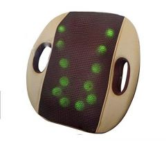 Back Massage Cushion Portable 3D Back Massager 12 Ball Rubbing Massager Car and Home Use (Pack of 1)