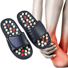 Yoga Paduka Leg Foot Massager Acupressure Slippers for Unisex (Size 6) (Pack of 1)
