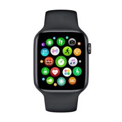 W26 Smart Watch Series 6 of 44mm Screen with Bluetooth Call (Black) (Pack of 1)