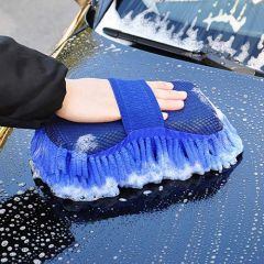 2 in 1 Microfiber Cleaning Sponge for Car Washing | Window Cleaning Brush (Pack of 1)