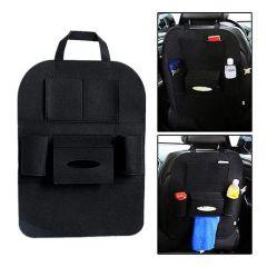 Universal Back Seat Organiser with 6 Pocket Mobile Pen Tissue Lunch Box Holder Multi Pocket Storage Hanger (Pack of 1)