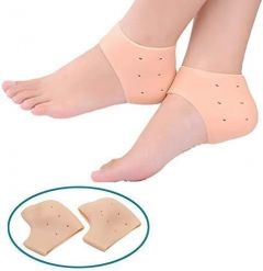 Anti Crack Silicone Gel Heel Foot Protector for Foot Care Pain Relief Unisex (Free Size) (1 Pair)