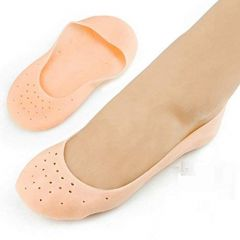 Anti Crack Silicone Gel Heel Foot Protector for Foot Care Pain Relief Unisex (1 Pair) (Free Size)
