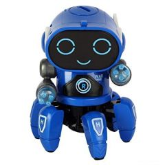 Bot Robot Octopus Shape Dancing with 3D Light Electric Robot Colorful Music Flashing Lights Dance Toy for Kids (Pack of 1)