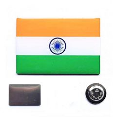 Tricolor Indian Flag Badge with Magnet for Suit, Shirts, Clothes for Men and Women (30 x 20 mm) (Pack of 1)