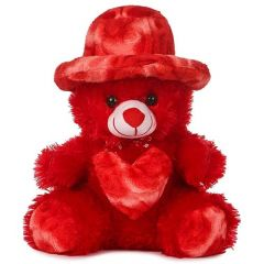 Teddy Bear 1.5 Feet Cap Teddy Very Beautiful Huggable Valentine and Birthday Gifts Lovable (Red) (Pack of 1)