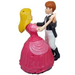 Musical and Dancing Toy Couple with 360 Degree Rotation, Dancing Couple Toy with Light (Pack of 1)
