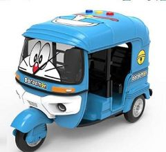 Doraemon Die-Cast Musical Auto Toy with Light for Kids (Pack of 1)
