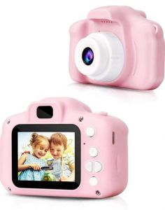Digital Camera Video Recorder Full HD 1080P Handy Portable Camera 2.0 Screen, with Inbuilt Games for Kids (Pink) (Pack of 1)