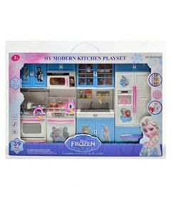 Frozen Modern Kitchen Toy Set with Light & Sound Battery Operated 14.5 Inches x 11 Inches for Kids (Pack of 1)