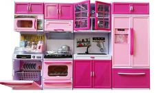 Modern Big Toy Kitchen Set for Kids (Pink) (Pack of 1)