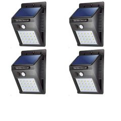 Solar Sensor Wall Light in Night, for Garden, Swimming Pool, Balcony and High Security Area (Pack of 4)