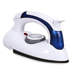 Electrical Steam Iron Press Portable with Folding Handel (White) (Pack of 1)