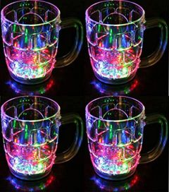 Plastic Liquid Activated Mug with Colorfull Light (Pack of 4)