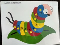 Nubmber Catterpillar Puzzle for Learning Kids (Pack Of 1)