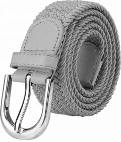 Women Formal, Casual Canvas Belt (Grey) (Pack Of 1)