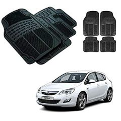 After Cars Black Carpet Floor/Foot 4D Rubber Mats for Opel Astra Car