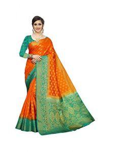 Sakhi Evergreen Beautiful designer Rich Pallu Extra Ordinary Jari Work Saree With Blouse Piece For Women's