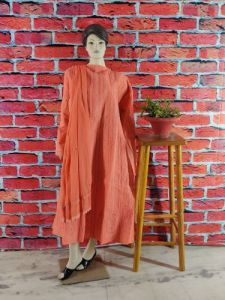WACA Trending, Stylish & Fashionable Creamsicle 100% Cotton Full Sleeves Pre-stitched Anarkali With Chikankari Embroidery (Pack Of 1) | (Color: Orange)