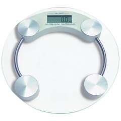 8Mm Electronic Round Thick Tempered Glass Electronic Digital Personal Bathroom Health Body Weight (Weighing Scale)