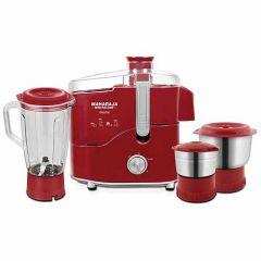 Maharaja Whiteline Desire Red Treasure Juicer Mixer Grinder 450-Watt with 3 Multipurpose Jar