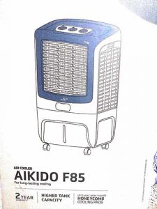 V-Guard AIKIDO F85 Desert Air Cooler 85L with Adjustable Wind Direction