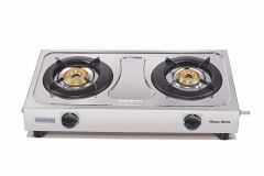 Usha Maxus Gs2 001 Brass 2 Burners Cooktop (Silver) (Pack of 1)