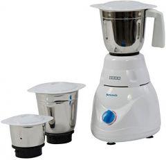 Usha Smash Mixer Grinder (MG-2853) 500-Watt with 3 Jars (White)