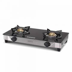 Usha Ebony Neo GS 2003 SS Thick Toughened Glass Top 2 Burner Gas Stove (Pack of 1)