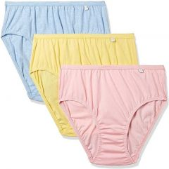 JOCKEY Elastic Cotton Hipster Panty For Women (Multi-Color) (Pack of 3)