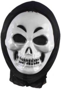 PTCMART Party Scary Halloween Ghost Mask For Boys & Girls Party Mask(White, Pack of 1)