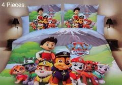 FABRIC EMPIRE Cotton Pav Printed Kids Version Comforter Set With 1 Double Bedsheet and 2 Pillow Covers