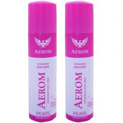 Aerom Pearl and Pearl Deodorant Body Spray For Men and Women (300 ml, Pack of 2)