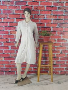 WACA Trending, Stylish & Fashionable 100% Cotton Full Sleeves Designer Noori Kurti With A Chikankari Work Embroidered On Fine Pure Dyeable Cloth For Women (Pack Of 1) | (Color: Pearl White)