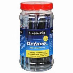 Classmate Octane Gel Pen (Blue & Black)- Pack of 25 + 10 Gel Refills Free