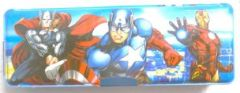 SKI Pencil Box With Amazing Avenger Character, Pencil Box  (Set of 1) (Color:-Blue)