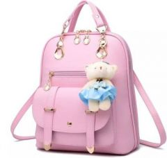 Mukul Collection Attractive Design, Elegant Color & Comfortable To Carry Buckle Waterproof Backpack For Women (10 L)