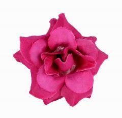 Homeoculture Dark Pink Stem Flower Hair Clips | Looks Like Natural Flower | Latest Design Hair Accessories (Pack of 2)