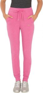 JOCKEY Solid Cotton Lycra Blend Track Pants For Women's (Pink) (Pack of 1)